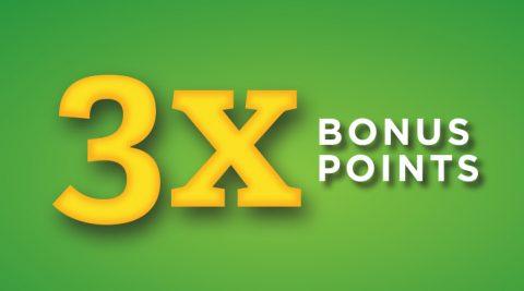 Image of (Thursday) 3X Bonus Points