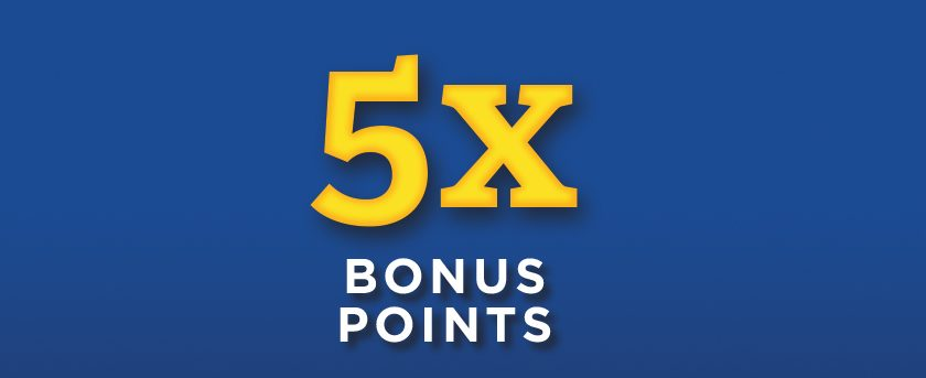 Image of (Saturday) 5X Bonus Points