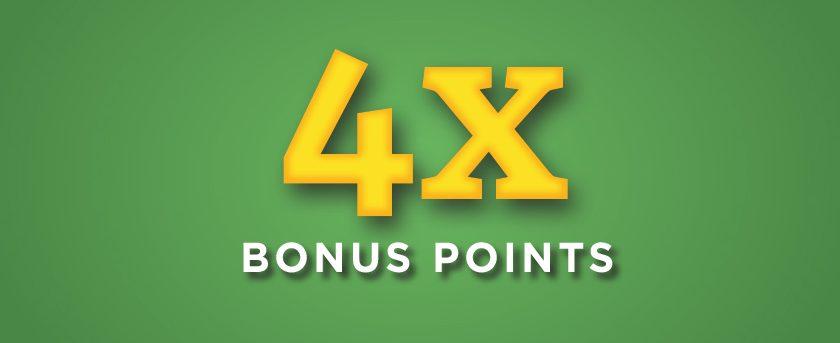 Image of (Friday) 4X Bonus Points